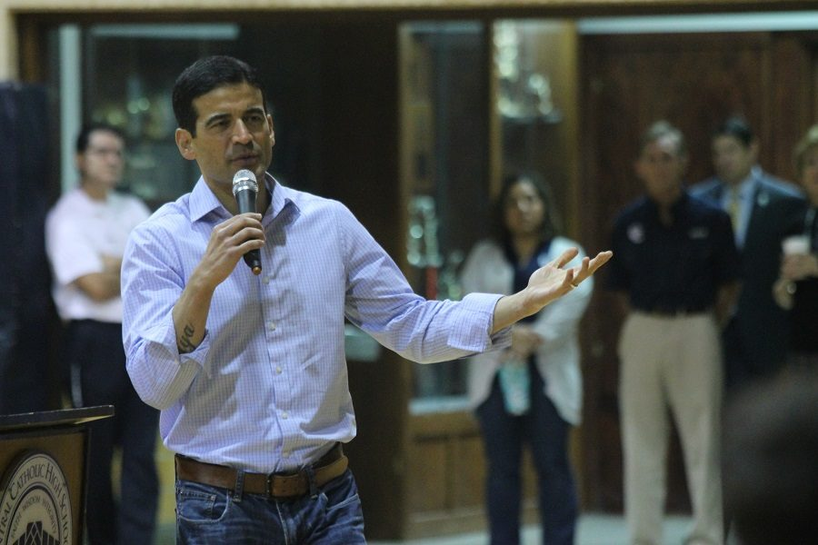 District Attorney Nico Lahood Speaks to Central Catholic Students