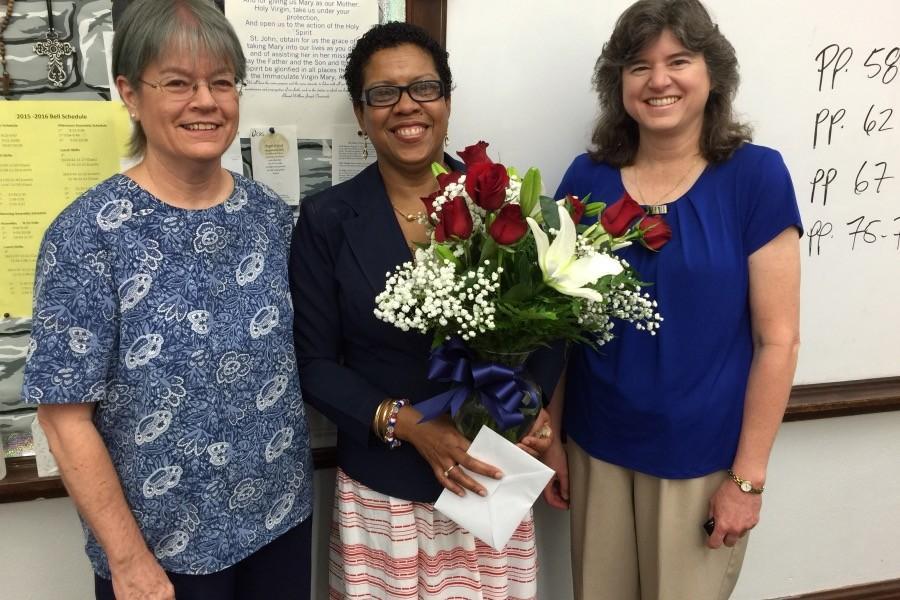 Mrs. Winston celebrates her citizenship.