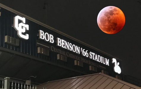 Blood Moon bathes Bob Benson, '66 Stadium