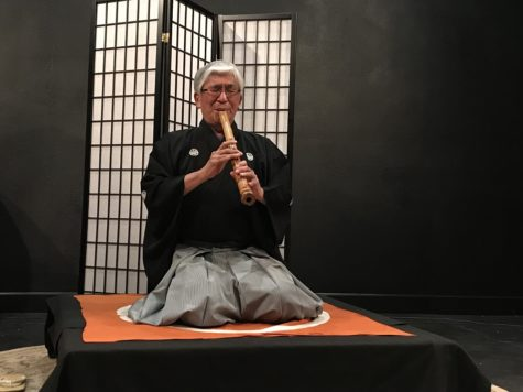 Yodo Kurahashi Sensei shares sounds of shakuhachi at Main Space concert