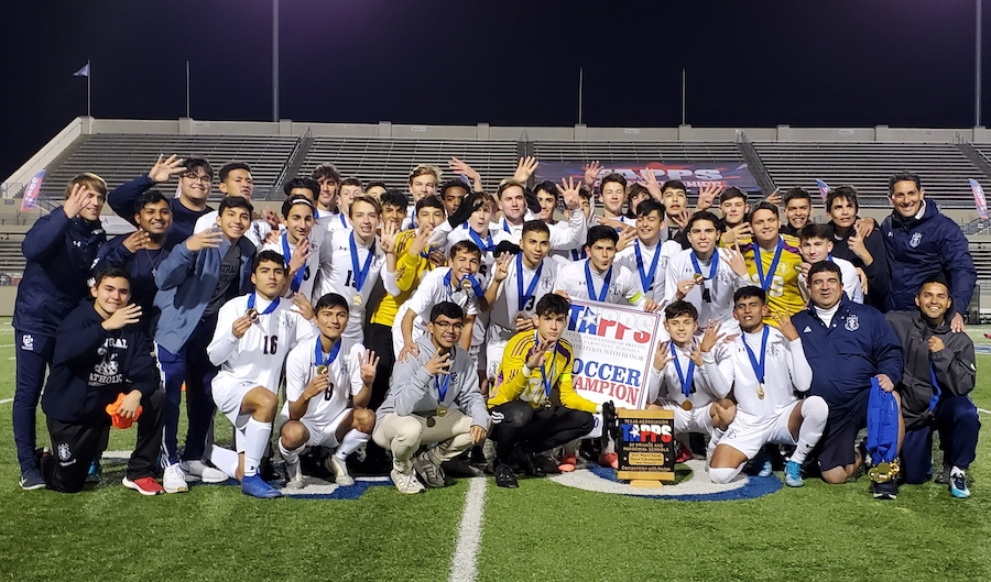 Soccer team earns fourth straight state title
