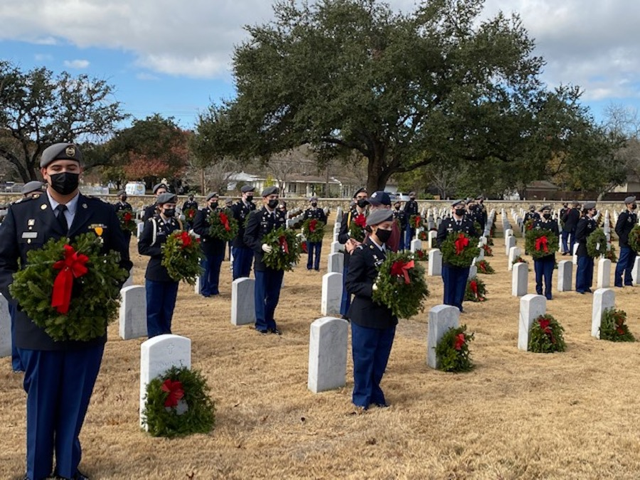 Cadets participate at Wreaths Across America