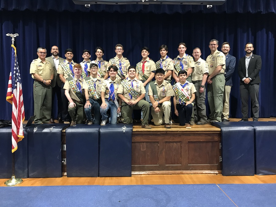 Ceremony celebrates Central's Eagle Scouts