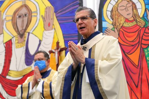 Archbishop visits Central for annual mass